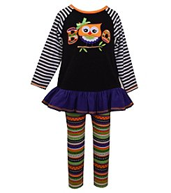 Bonnie Jean® Girls' 2T-6X 2-Piece Boo Owl Tunic And Leggings Set