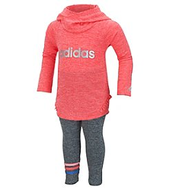 adidas® Baby Girls' 2-Piece Hooded Top And Leggings Set