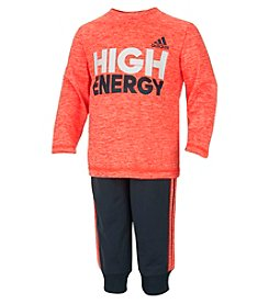 adidas® Baby Boys 2-Piece High Energy Tee And Pants Set