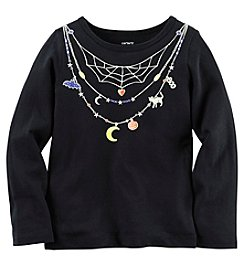 Carter's® Baby Girls' Long Sleeve Web Necklace Tee