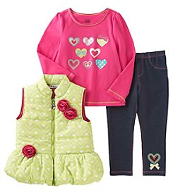 Kids Headquarters® Baby Girls' 3-Piece Rosette Vest Set