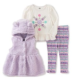 Kids Headquarters® Baby Girls' 3-Piece Hooded Vest Set