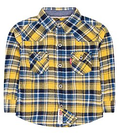 Levi's® Baby Boys Long Sleeve Plaid Flannel Shirt
