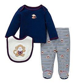Little Me® Baby Boys 3-Piece Monkey Stripe Set