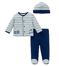 Little Me® Baby Boys 3-Piece Train Stripe Set