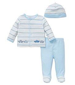 Little Me® Baby Boys 3-Piece Cars Stripe Set