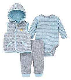 Little Me® Baby Boys 3-Piece Puppy Stripe Vest Set