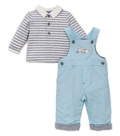 Little Me® Baby Boys 2-Piece Puppy Fun Overall Set