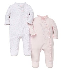 Little Me® Baby Girls' 2-Pack Gentle Blooms Footies