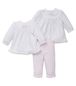 Little Me® Baby Girls' 3-Piece Gentle Blooms Tunics And Leggings Set
