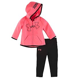 Under Armour® Baby Girls' 2-Piece Big Logo Hoodie And Pants Set