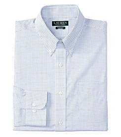 Lauren Ralph Lauren® Men's Long Sleeve Button Down Collar Checked Dress Shirt