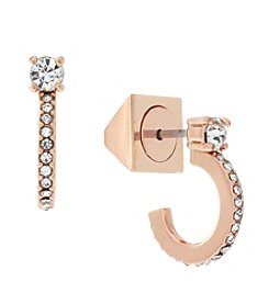 Vince Camuto™ Rose Goldtone Dainty Studded Earrings