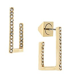 Vince Camuto™ Goldtone Dimensional L Earrings