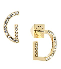 Vince Camuto™ Goldtone Half Circle Earrings