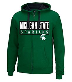 J. America® NCAA® Michigan State Spartans Men's Hands Down Full Zip Hoodie