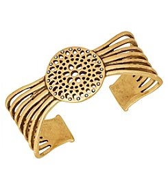 Lucky Brand® Goldtone Openwork Cuff Bracelet