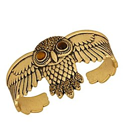 Lucky Brand® Goldtone Owl Cuff Bracelet