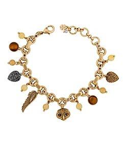 Lucky Brand® Two Tone Owl Charm Bracelet