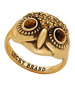 Lucky Brand® Goldtone Owl Ring