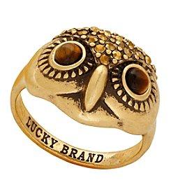 Lucky Brand® Goldtone Owl Ring