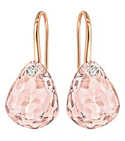 Swarovski® Rose Goldtone Parallele Pierced Earrings