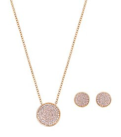 Swarovski® Rose Goldtone Fun Pendant And Earrings Set