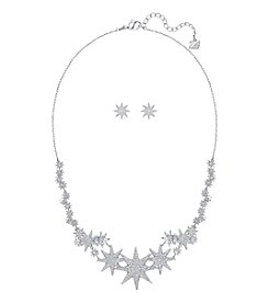 Swarovski® Silvertone Fizzy Necklace And Earrings Set Large