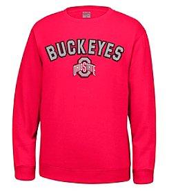 J. America® NCAA® Ohio State Buckeyes Men's Sculler Crew Neck Sweater