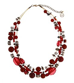 Erica Lyons® Goldtone You Had Me At Merlot Short Illusion Necklace