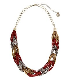 Erica Lyons® Two Tone You Had Me At Merlot  Loops Necklace
