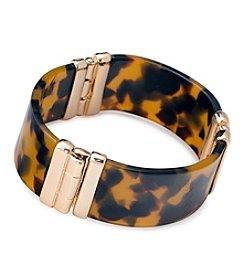 Lauren Ralph Lauren® Goldtone Riding High Hinged Bangle Bracelet