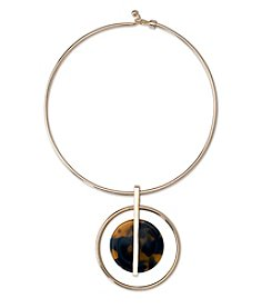 Lauren Ralph Lauren® Goldtone Riding High Orb Pendant Necklace