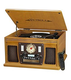 Victrola&Reg; Wooden 7-In-1 Nostalgic Record Player With Bluetooth And USB Encoding