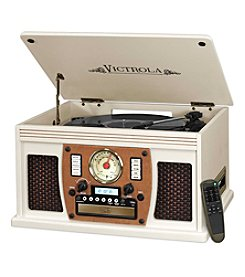 Victrola® Wooden 7-In-1 Nostalgic Record Player With Bluetooth And USB Encoding