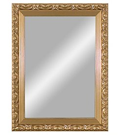 LivingQuarters Red & Goldtone Medium Gold Mirror