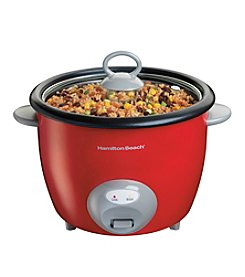 Hamilton Beach® 20-Cup Red Rice Cooker and Food Steamer