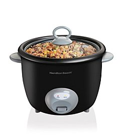 Hamilton Beach® 20-Cup Black Rice Cooker and Food Steamer
