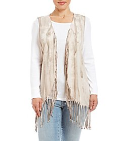 Oneworld® Plus Size Fringe Vest