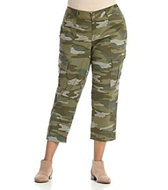 Democracy Plus Size Camo Cargo Crop Pants