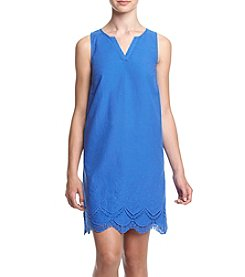 Kensie® Embroidered Crochet Dress