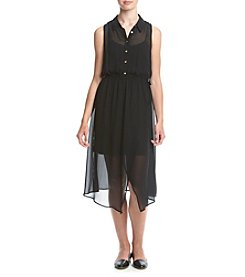 Kensie® Crepe Chiffon Shift Dress
