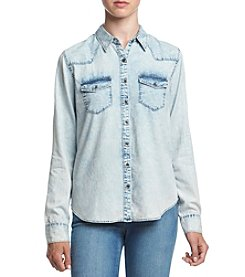 Hippie Laundry Acid Wash Chambray Top