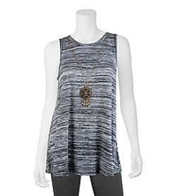 A. Byer Space Dye Tank With Necklace