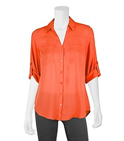 A. Byer Button Down Utility Top