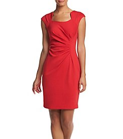 Calvin Klein Horseshoe Neckline Sheath Dress