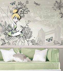 RoomMates Vintage Tinkerbell Wall Mural