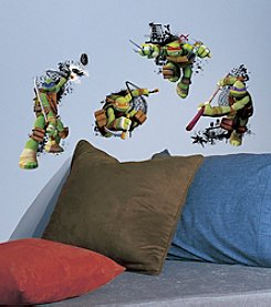 RoomMates Teenage Mutant Ninja Turtles in Action Peel & Stick Giant Wall Decals