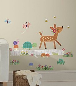 RoomMates Woodland Baby Animal Log Peel & Stick Wall Decals
