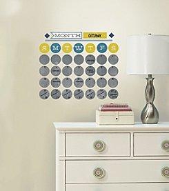 RoomMates Retro Dry Erase Calendar Peel & Stick Wall Decals